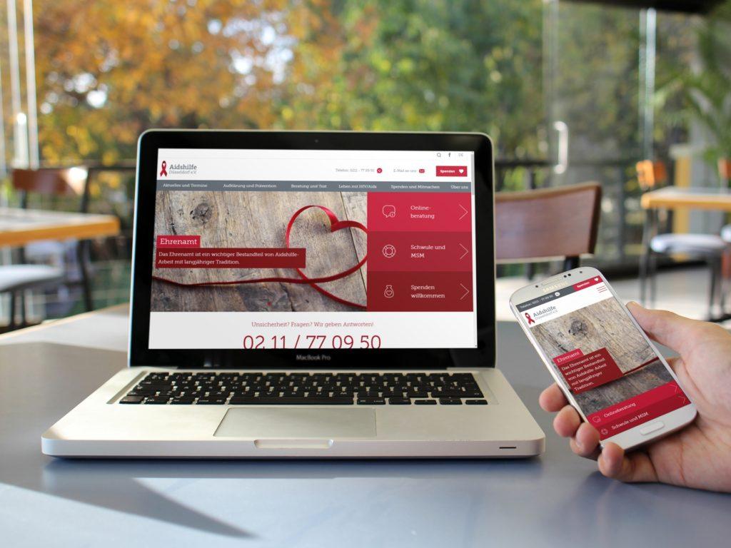 Aidshilfe Düsseldorf Relaunch Responsiv dank anyMOTION