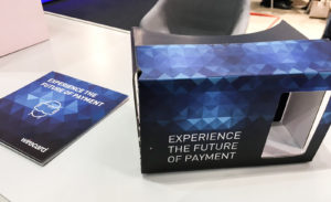 Mit wenig Material zur Zukunft des Bezahlens VR-Shopping - VR-Payment-Solution Wirecard anyMOTION