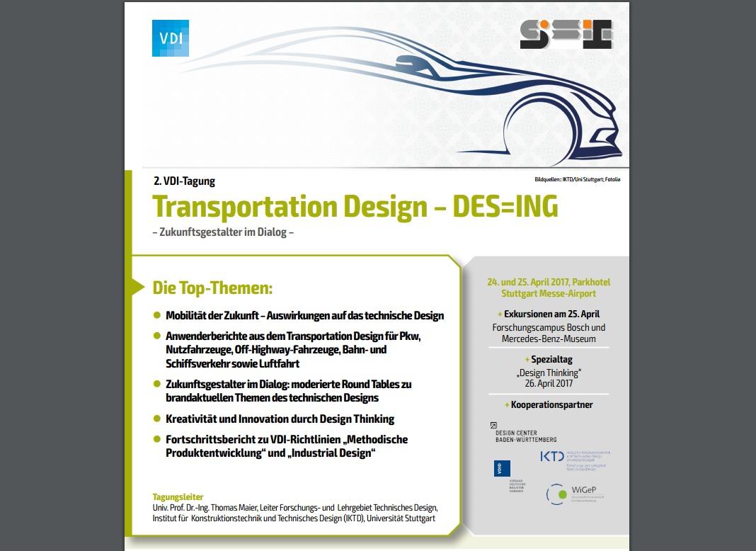 VDI Tagung Transportation Design DES=ING Ankündigung anyMOTION Referent Ingo Waclawczyk