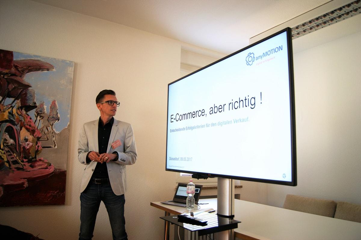 Online Shop anyMOTION Digitalagentur Vortrag E-Commerce mit Unternehmerschaft Düsseldorf Digitalexperten