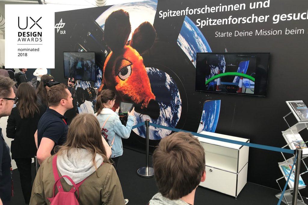 DLR_next Virtual Wings UX Design Awards 2018 nominated - anyMOTION Digitalagentur Düsseldorf -Praxistest ILA - Internationale Luft- und Raumfahrtausstellung Berlin